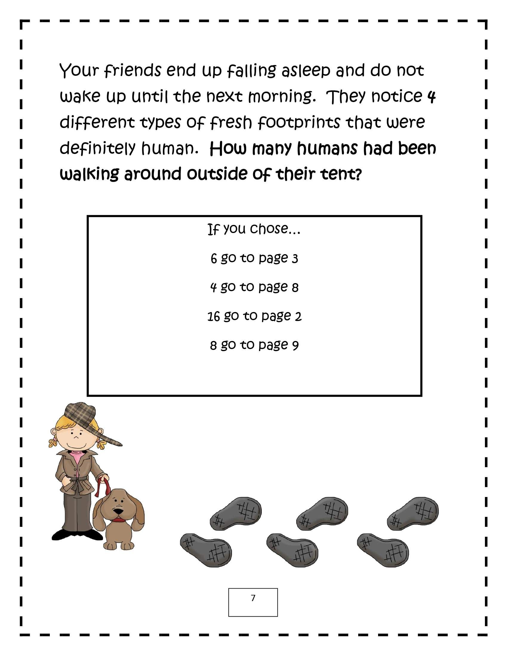 Spring Math Detectives Mystery Of The Crazy Camping