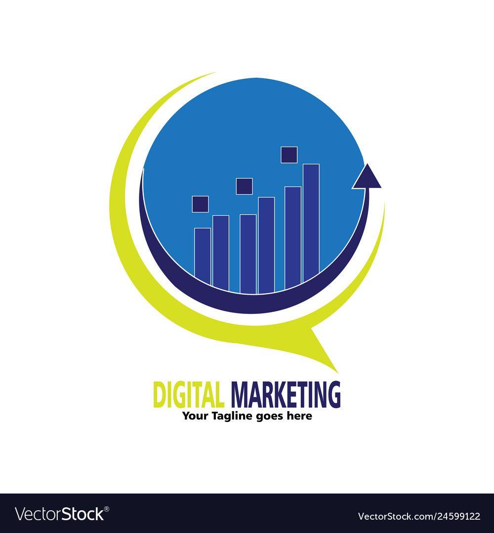 Digital marketing logo for company vector image on ...