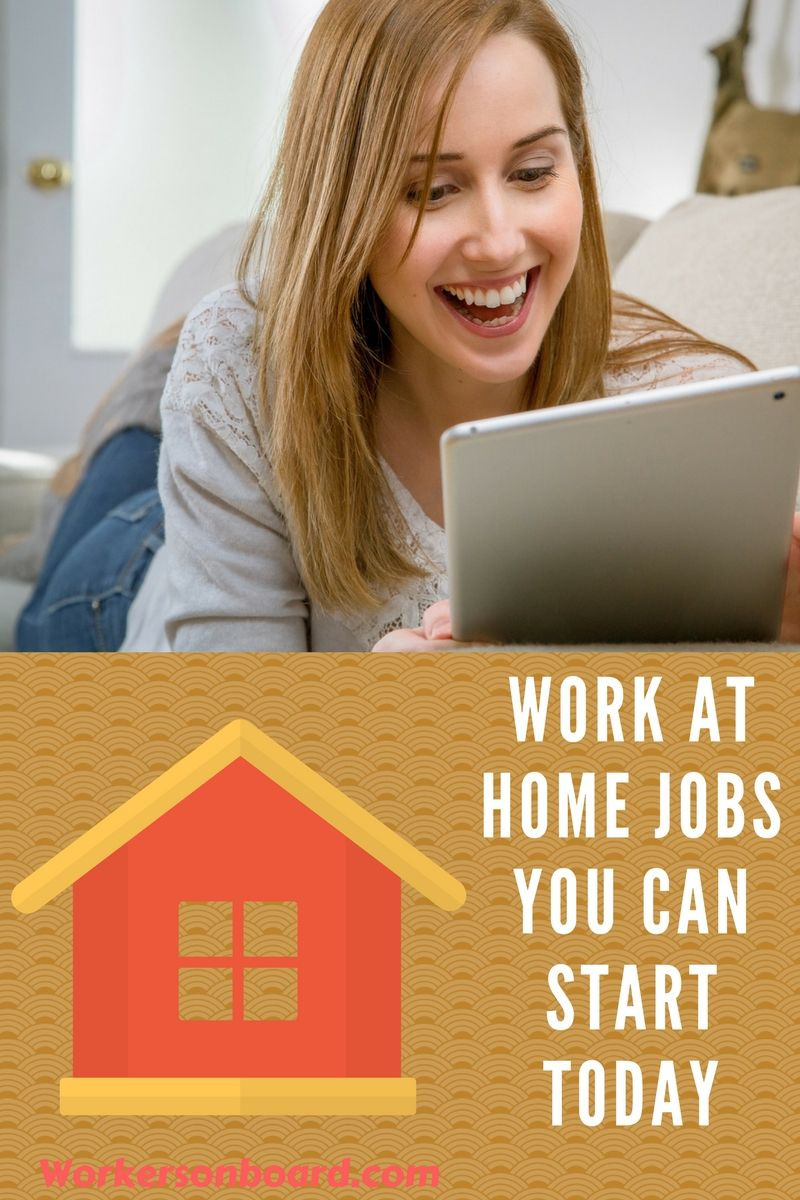 Work At Home Jobs You Can Start Today Work From Home Jobs Work