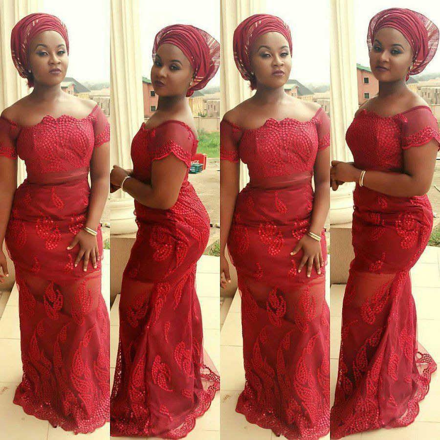 2017 05 aso ebi fashion styles nigeria wedding event fashion - Wine Aso Ebi Styles Lovely And Fabulous For Events