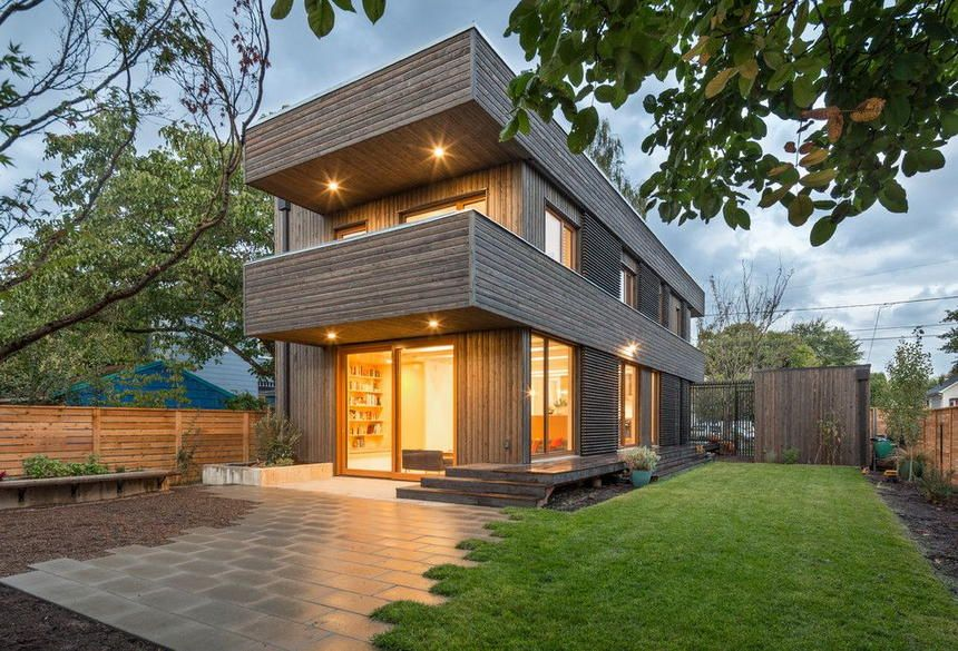 The Adorable Beautification Of The House Is Made Here Where The Two Story Exterior House Design Is Sh Best Modern House Design Modern House Design House Design