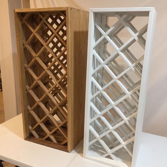Diamond wine rack #SalvagedWood #GiftForDad #WoodWineRack ...