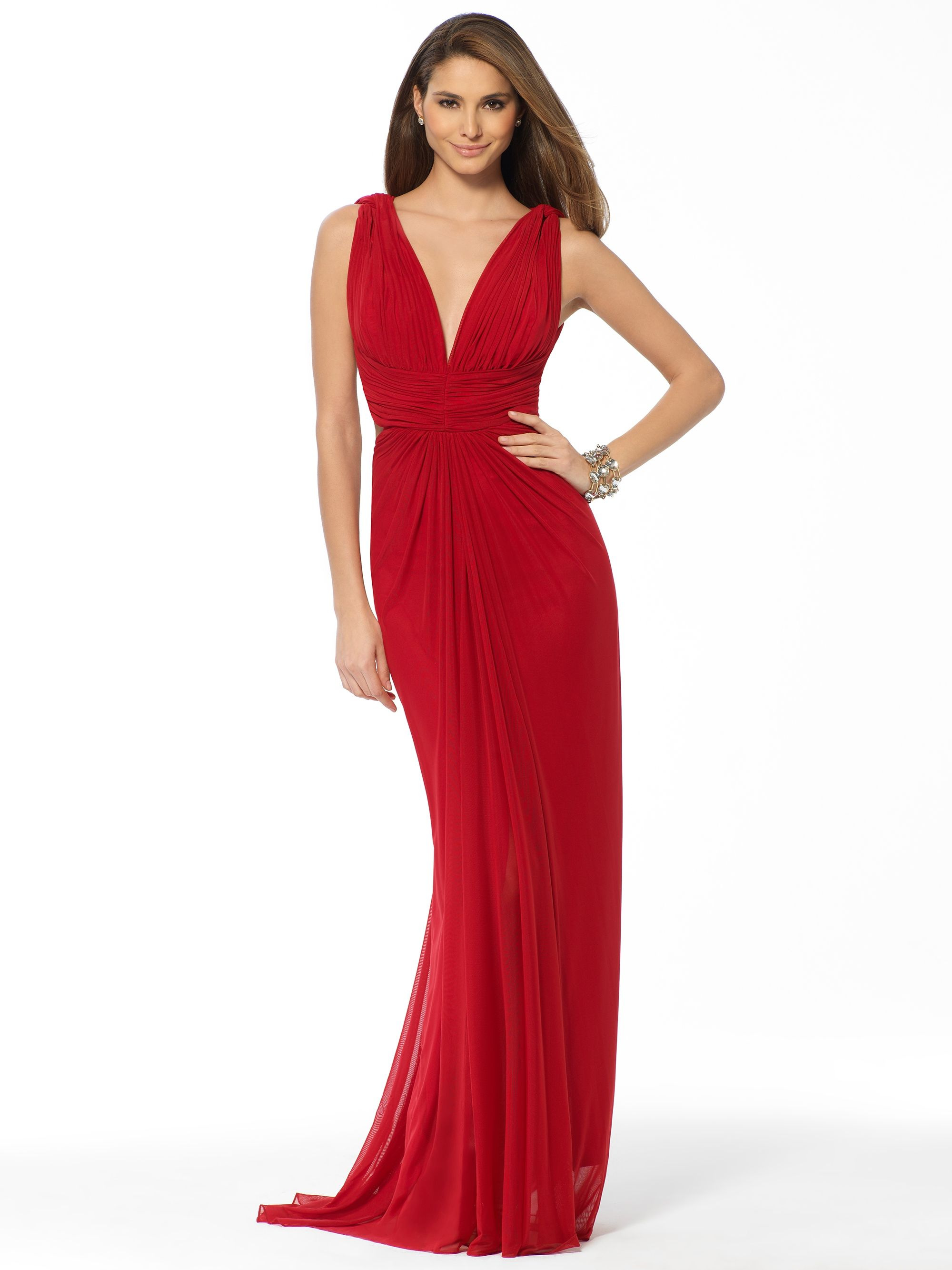 This red Cache old hollywood criss cross back gown is gorgeous!! I ...