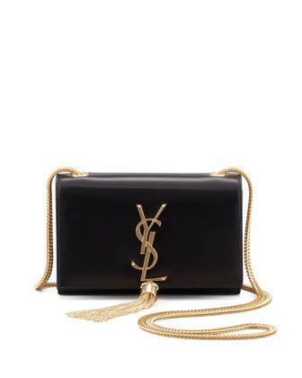 f238aae3accb Saint Laurent Cassandre Small Tassel Crossbody Bag