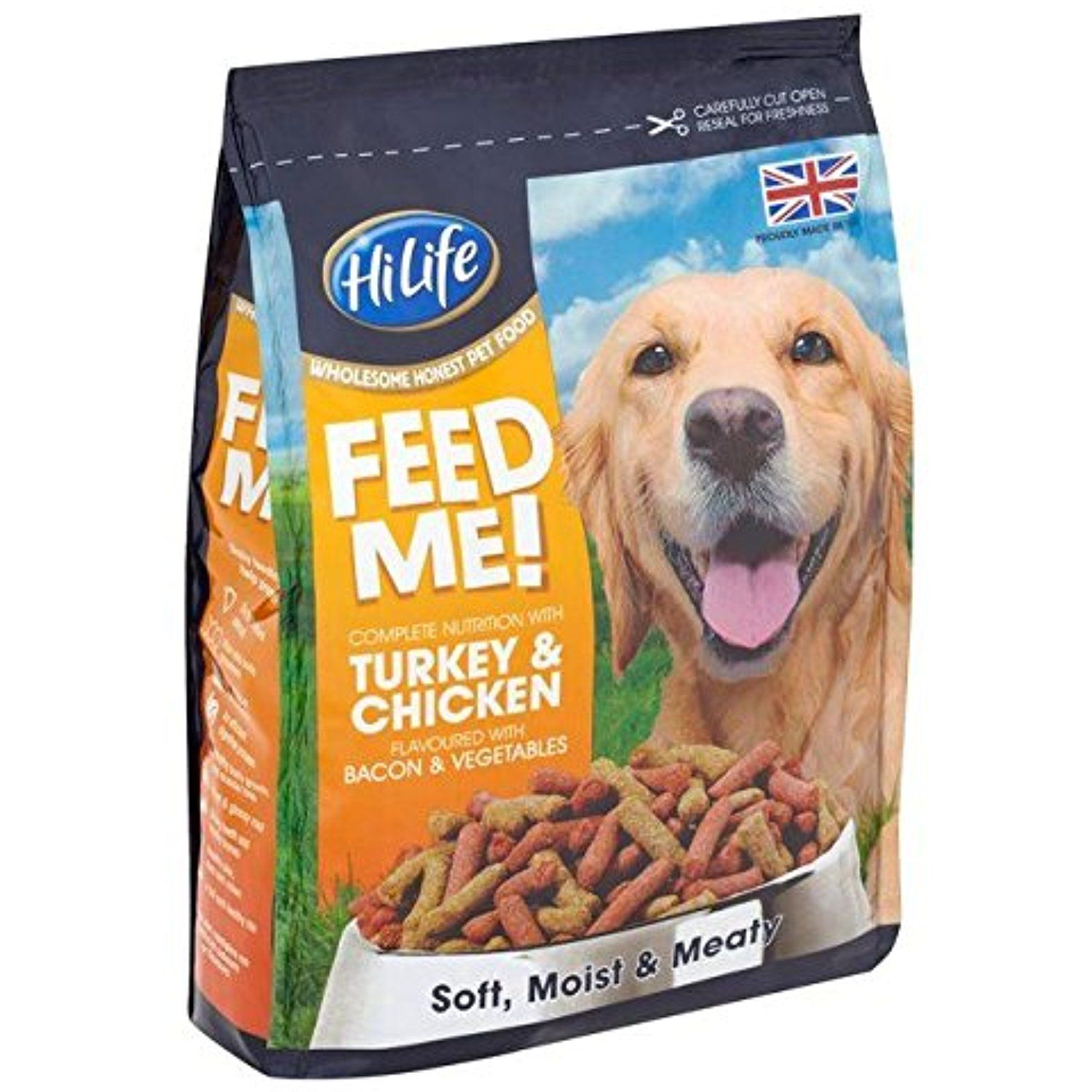 Hilife Feed Me Turkey Chicken Dry Dog Food 1 5kg Pack Of 2