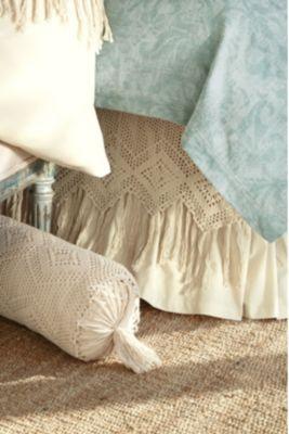 Fiona Bedskirt - Crochet Bedskirt, Crochet Bedskirt Queen, Crochet Bedskirt King   Soft Surroundings