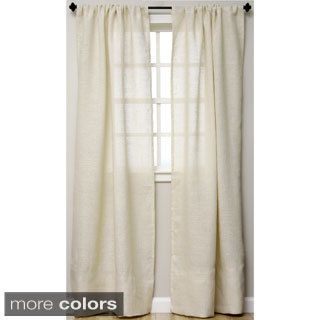 Shop For Open Weave Burlap 96 Inch Curtain Panel Free Shipping On Orders Over