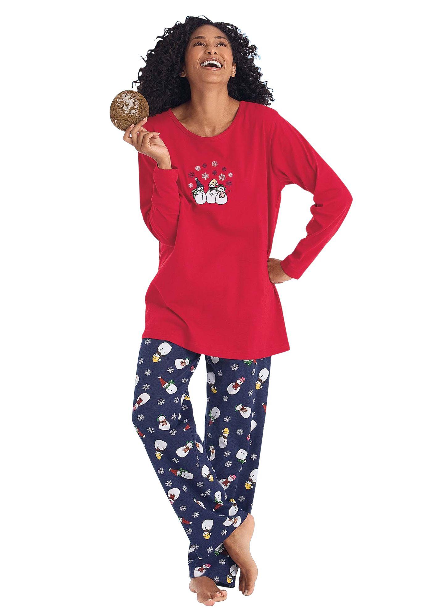 Petite winter print knit pjs by Dreams & Co.® Plus Size