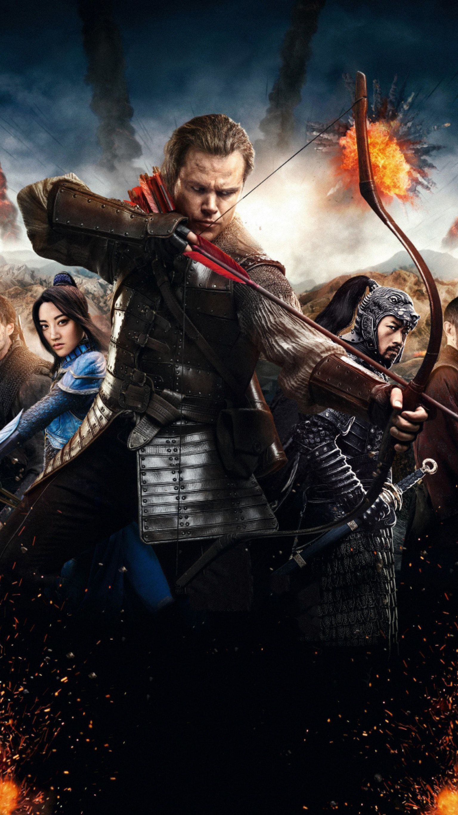 The Great Wall 2016 Phone Wallpaper Bioskop Film Dan Komedi