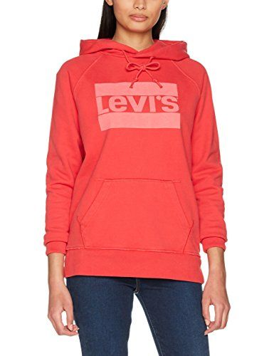 af716029ad5 Levi s Graphic Sport Hoodie Sweat-Shirt à Capuche Femme Rouge (Fleece Sportswear  Logo PFD to Match Poinsettia 0008) X-Small