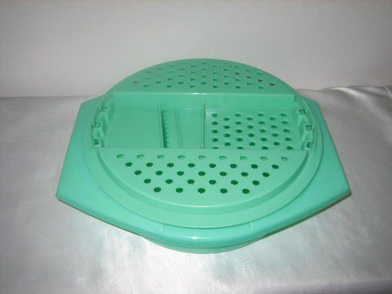 Tupperware Green Bowl Cheese Grater Slicer Vintage Tupperware Vintage Tupperware Green Bowl Tupperware
