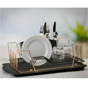 simplehuman Compact Steel Frame Stainless Steel Dish Rack KT1179 - The Home Depot