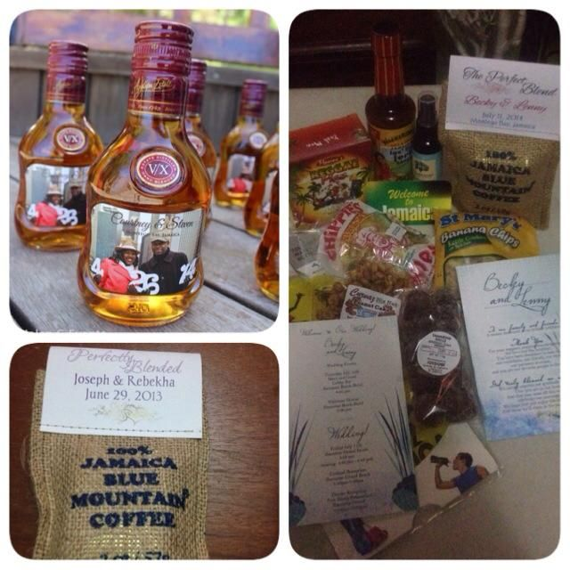 Jamaican Wedding Favors And Welcome Baskets By Helen G