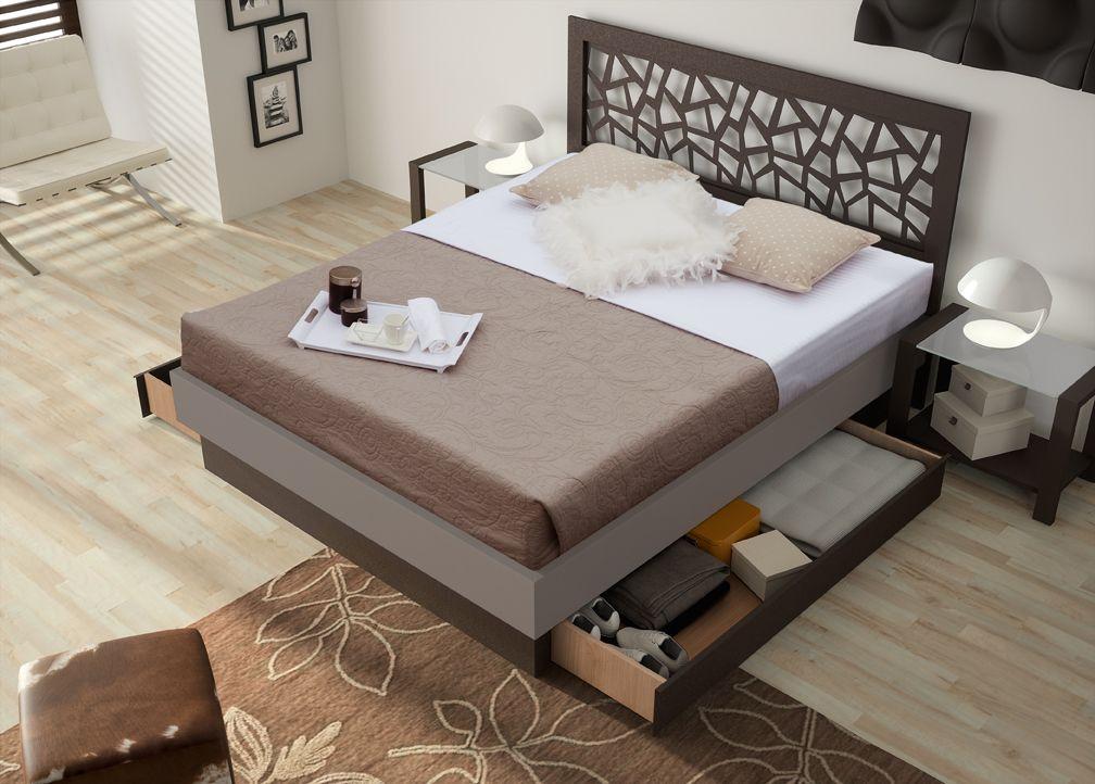 t te de lit brio mosa c avec encadrement sur socle tiroirs. Black Bedroom Furniture Sets. Home Design Ideas
