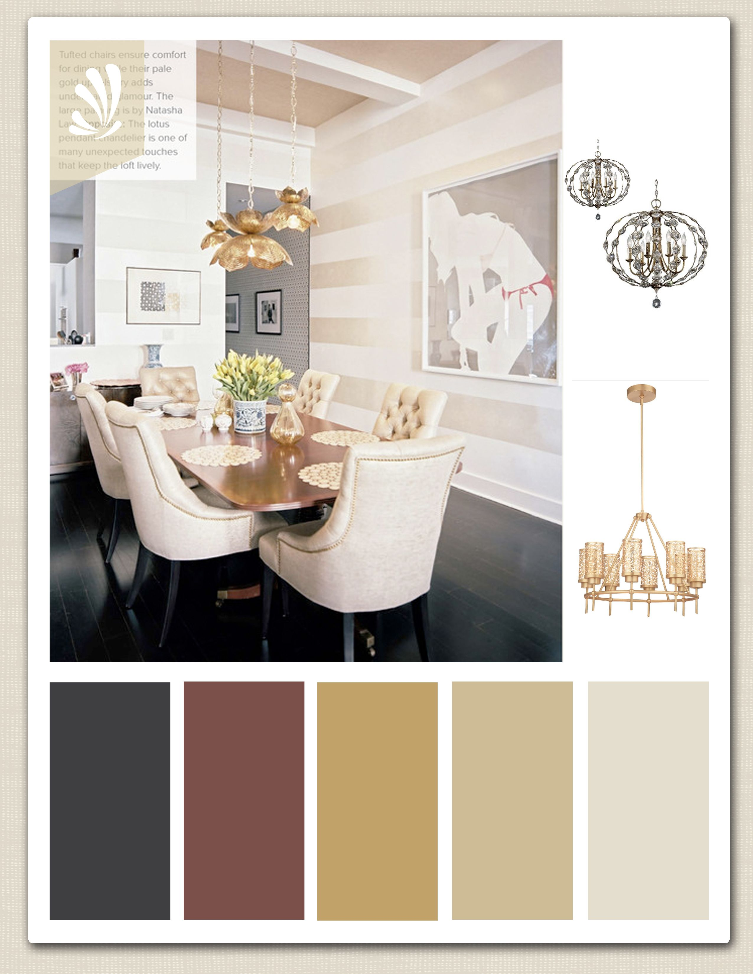 What colors are in the zen palate - Gold Cream Cranberry And Espresso Color Palette For Your Dining Room Beautiful Fixtures