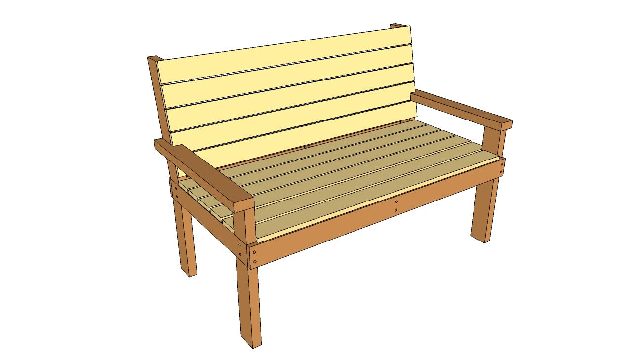park+bench+plans | Park Bench Plans | Free Outdoor Plans ...