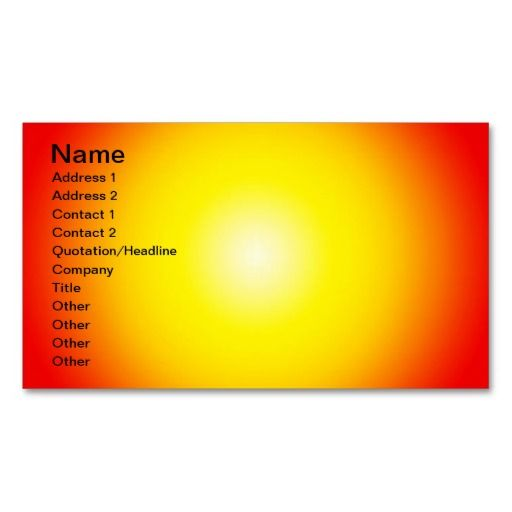 Warm Background, Name, Address 1, Address 2, Co Business Card - name and address template