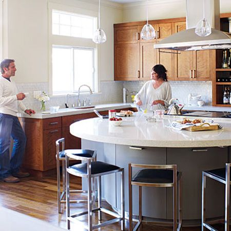 Look! A Semi-Circular Kitchen Island Kitchens, House and Round kitchen
