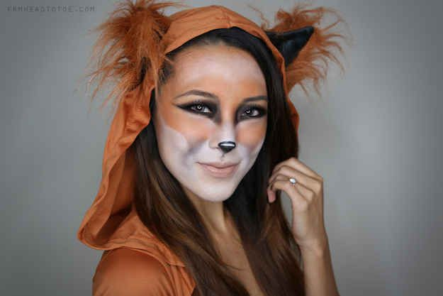 Fox Makeup 21 Easy Hair And Makeup Ideas For Halloween Cool - cool makeup ideas for halloween