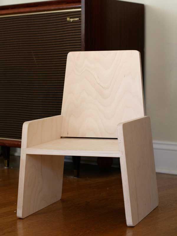 Modern toddler chair $75 Proyectos que debo intentar Pinterest - muebles de bambu modernos