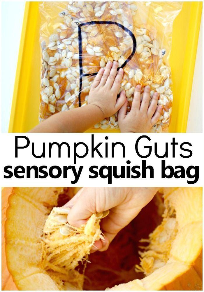 P is for Pumpkin: Pumpkin Sensory Squish Bag - Fantastic Fun & Learning