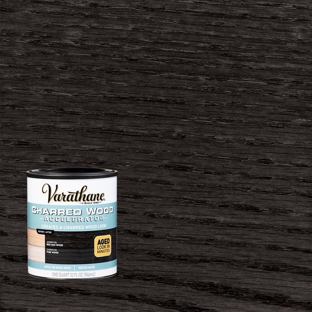 Varathane 1 Qt Interior Charred Wood Accelerator 347105 Charred