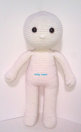Maya basic doll pattern by Nelly M Lopez #dollmaking