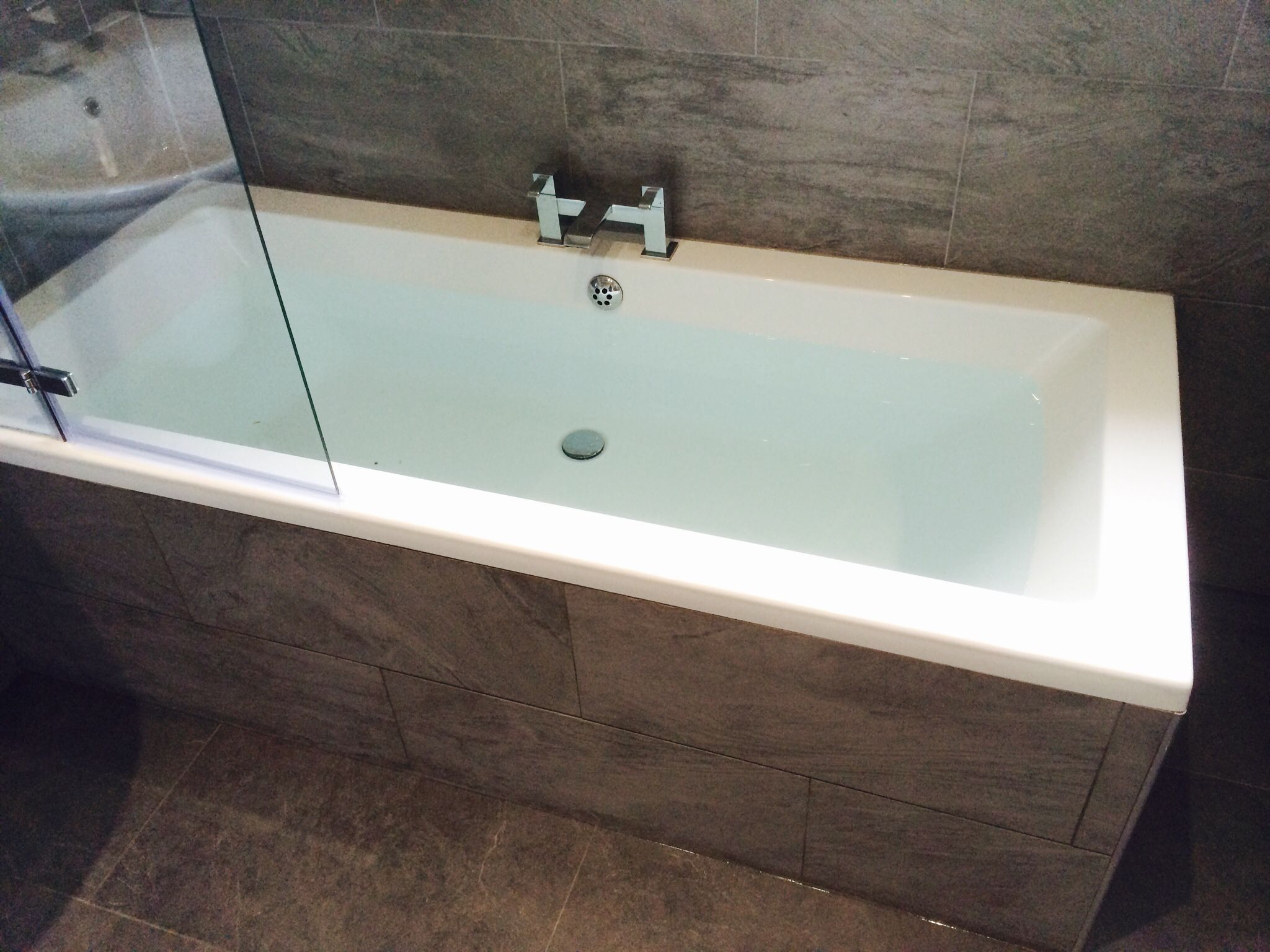 Tiled bath panel | bathrooms | Pinterest | Bath panel and Bath