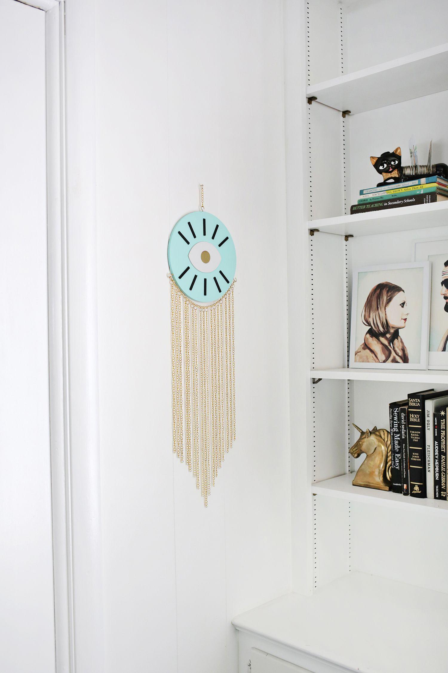 Gold chain wall hanging DIY | DIY for Home | Pinterest | Craft, Diys ...