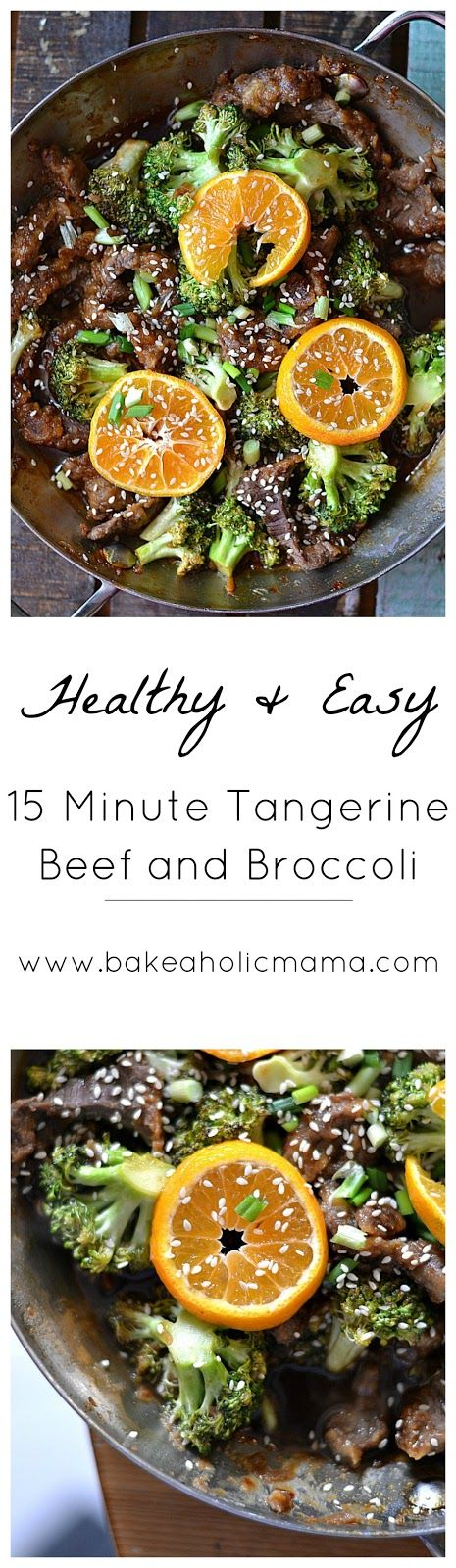 Bakeaholic mama 15 minute tangerine beef and broccoli can be dinner is typically a drag in our house come five oclock i do not feel like cooking for anyone stirfries tend to be a go to di forumfinder Choice Image