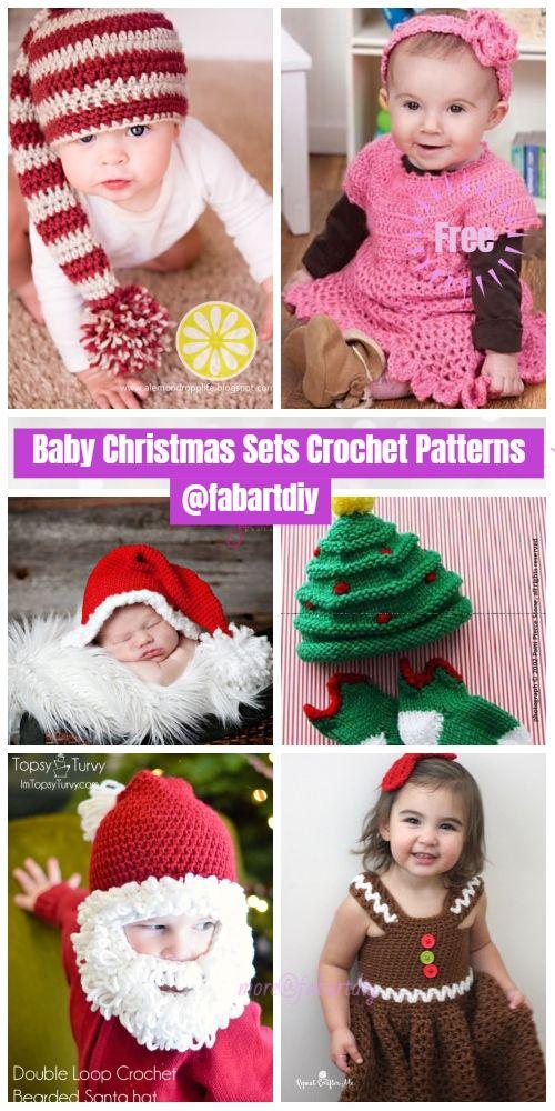 Christmas Crochet Santa Baby Cocoon Free Crochet Patterns | Baby ...