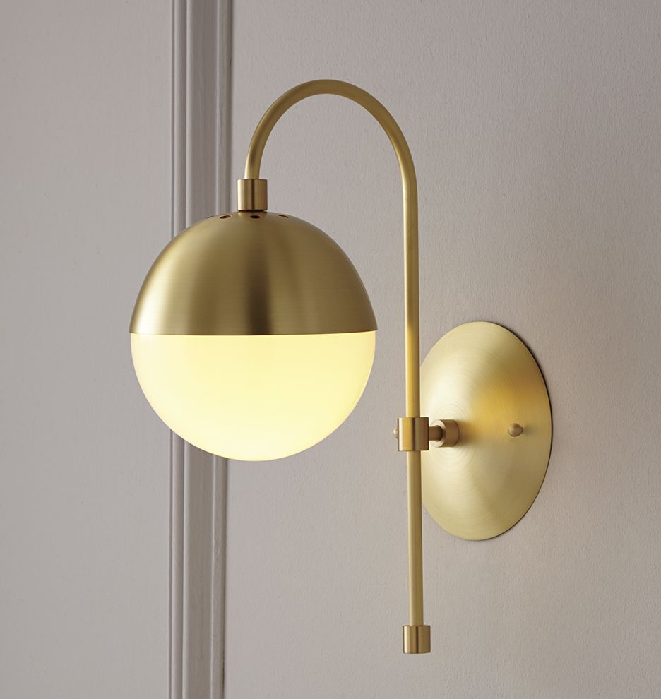 Cedar Moss Globe Sconce Battery Operated Wall Sconce Sconces