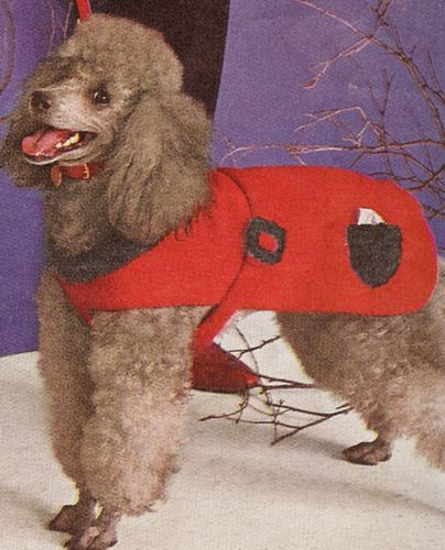 Vintage Knit Dog Coat Sweater Knitted Knitting Pattern Redpoodle