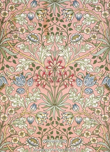 Hyacinth wallpaper, by William Morris. England, 19th