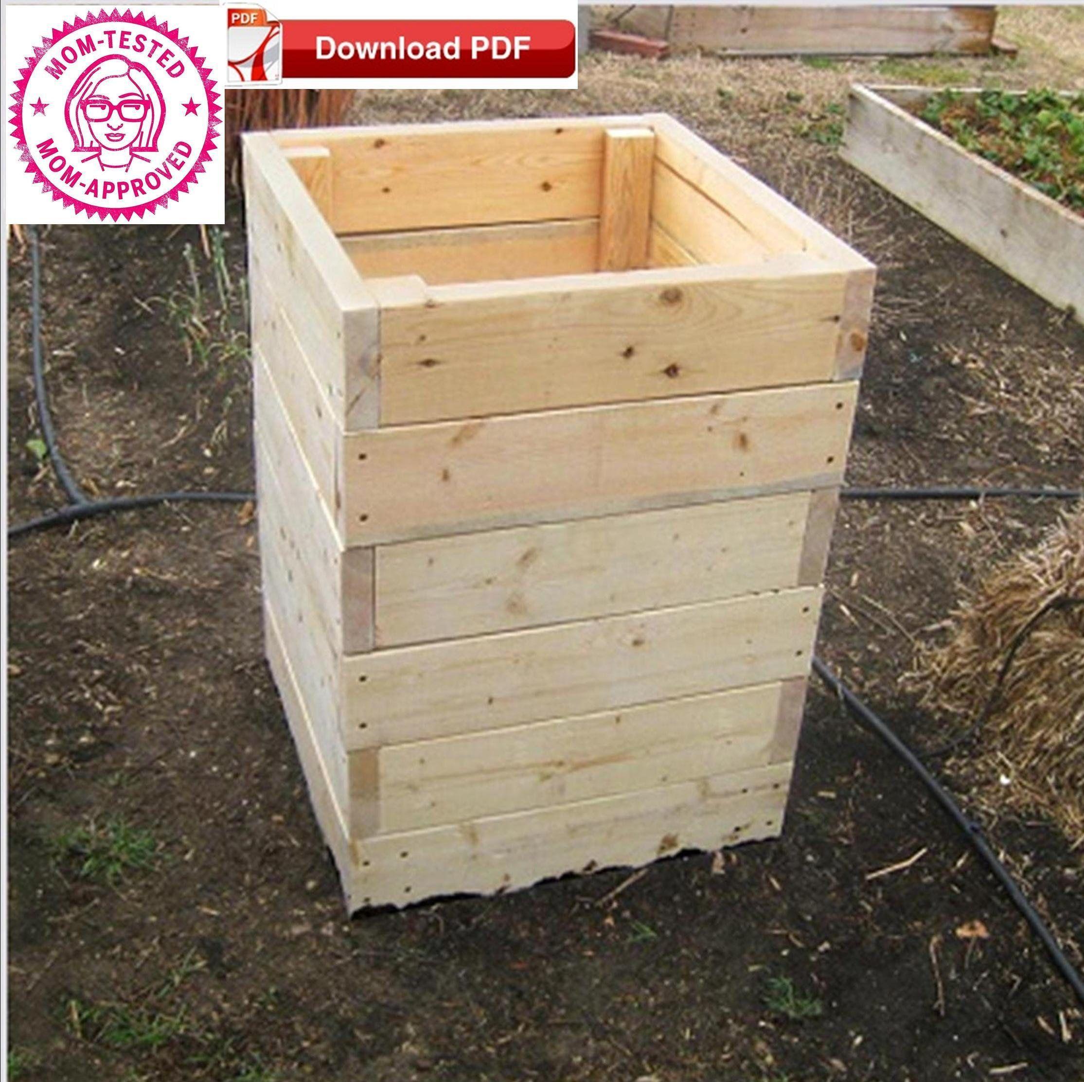 Raised Planter Box Plan Potato Planter Box Plan Organic Raised Etsy Potato Planters Planter Box Plans Garden Box Plans