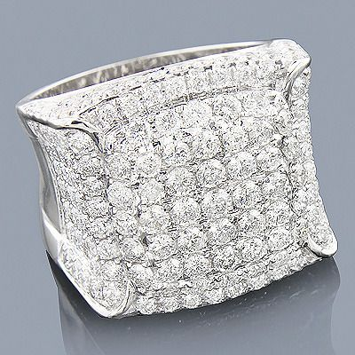Jewelry Diamond 14K Expensive Mens Diamond Ring 563ct Joyas