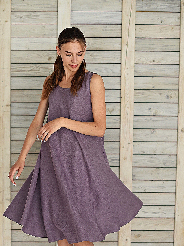 Loose Fit Day Dress Linen Swing Summer Dress Sleeveless Etsy Linen Dresses Day Dresses Dresses [ 3000 x 2241 Pixel ]