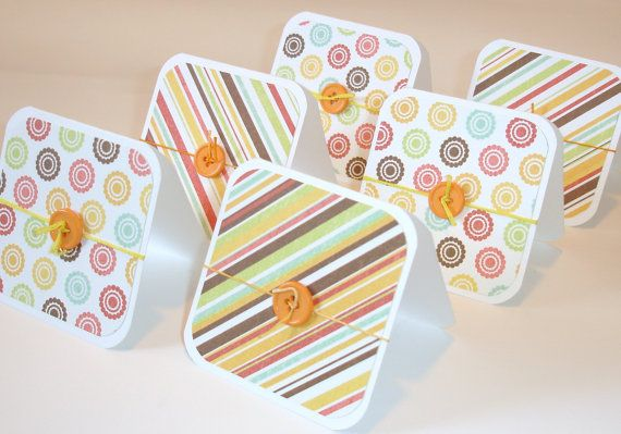 loving the color combinations #cards #crafts #paper #greetings #note cards #mini cards #yellow