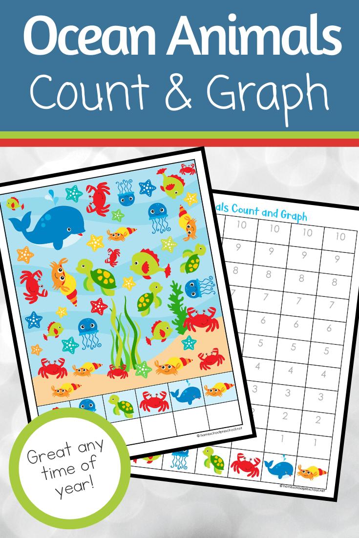Ocean Animals Count And Graph Worksheets In 2020 Graphing Activities Ocean Activities Preschool Math Activities Preschool [ 1102 x 735 Pixel ]