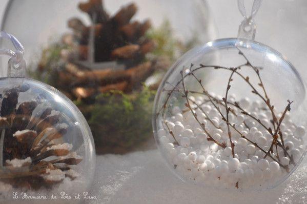 Boules de Noël inspiration nature (tuto video)   L'armoire de Léo