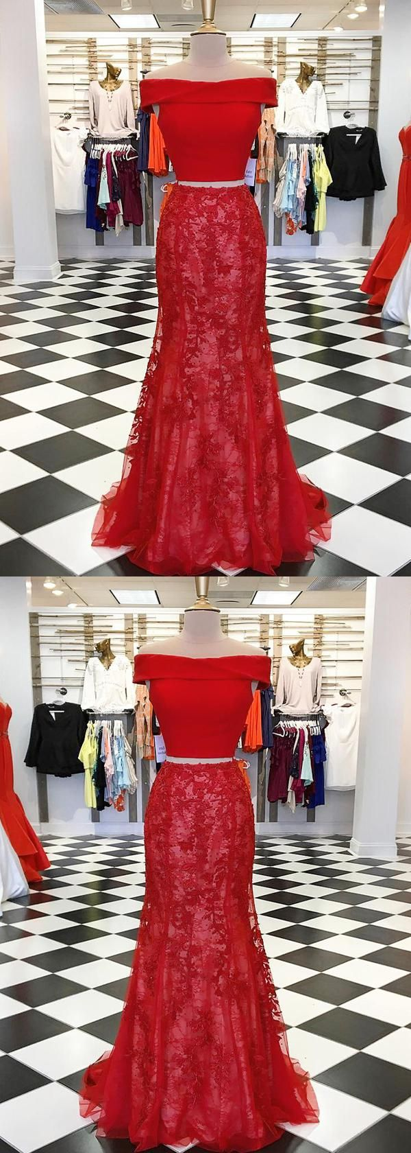 Lace red mermaid red mermaid qprom prom dresses