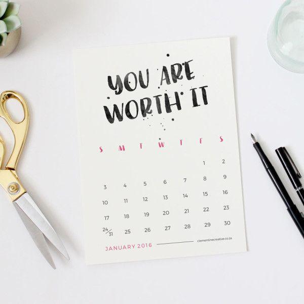 Printable-2016-motivational-desk-calendar-jan-mini