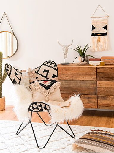 deko trend nordik ethnik maisons du monde trends pinterest wohnzimmer sessel und wohnen. Black Bedroom Furniture Sets. Home Design Ideas