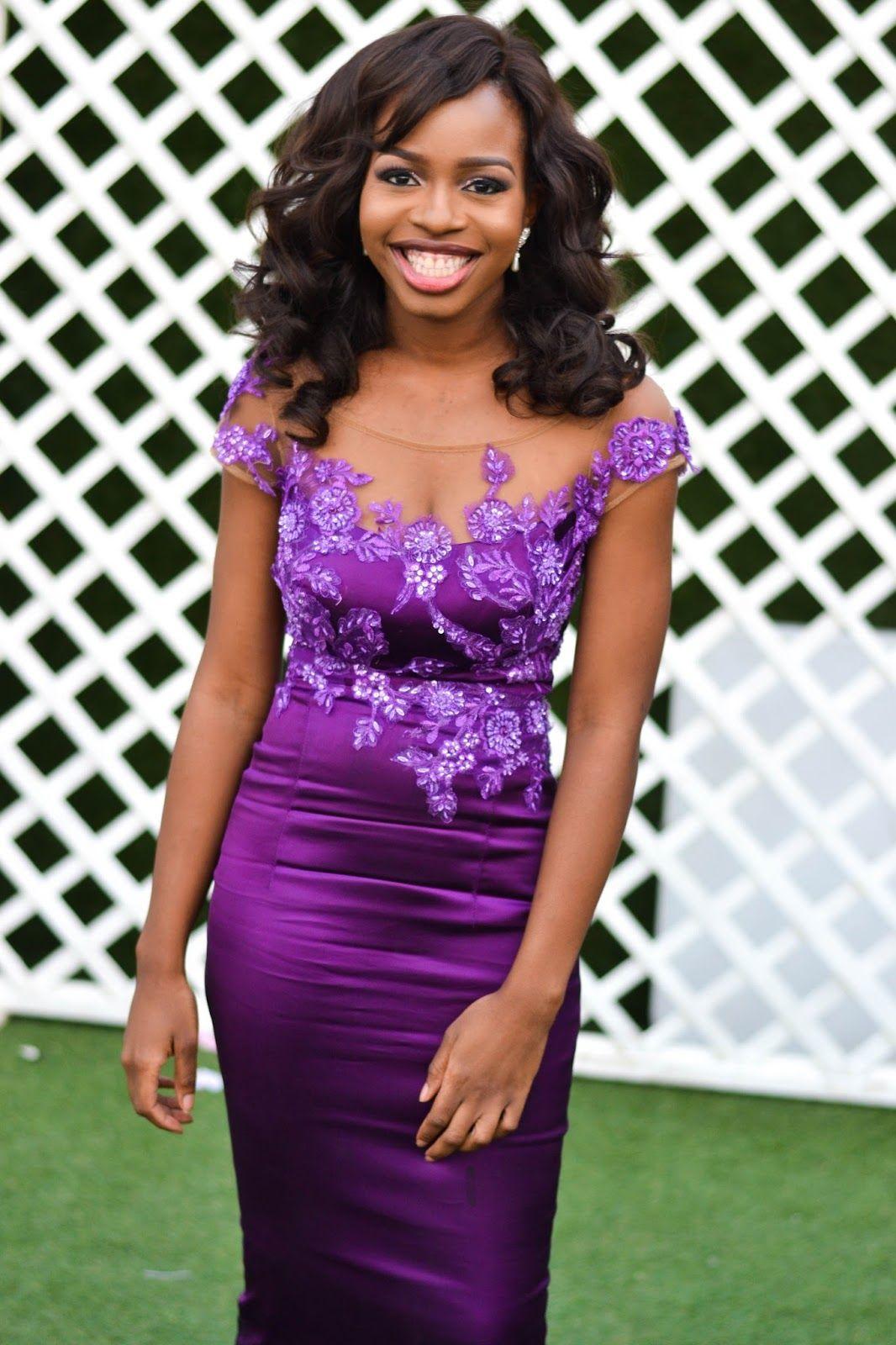 A Pretty Purple Bridesmaid Dress | Purple lace bridesmaid dresses ...