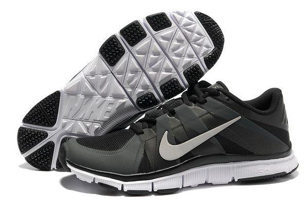 2014 ultimo nike libera trainer mens nero argento scarpe nere