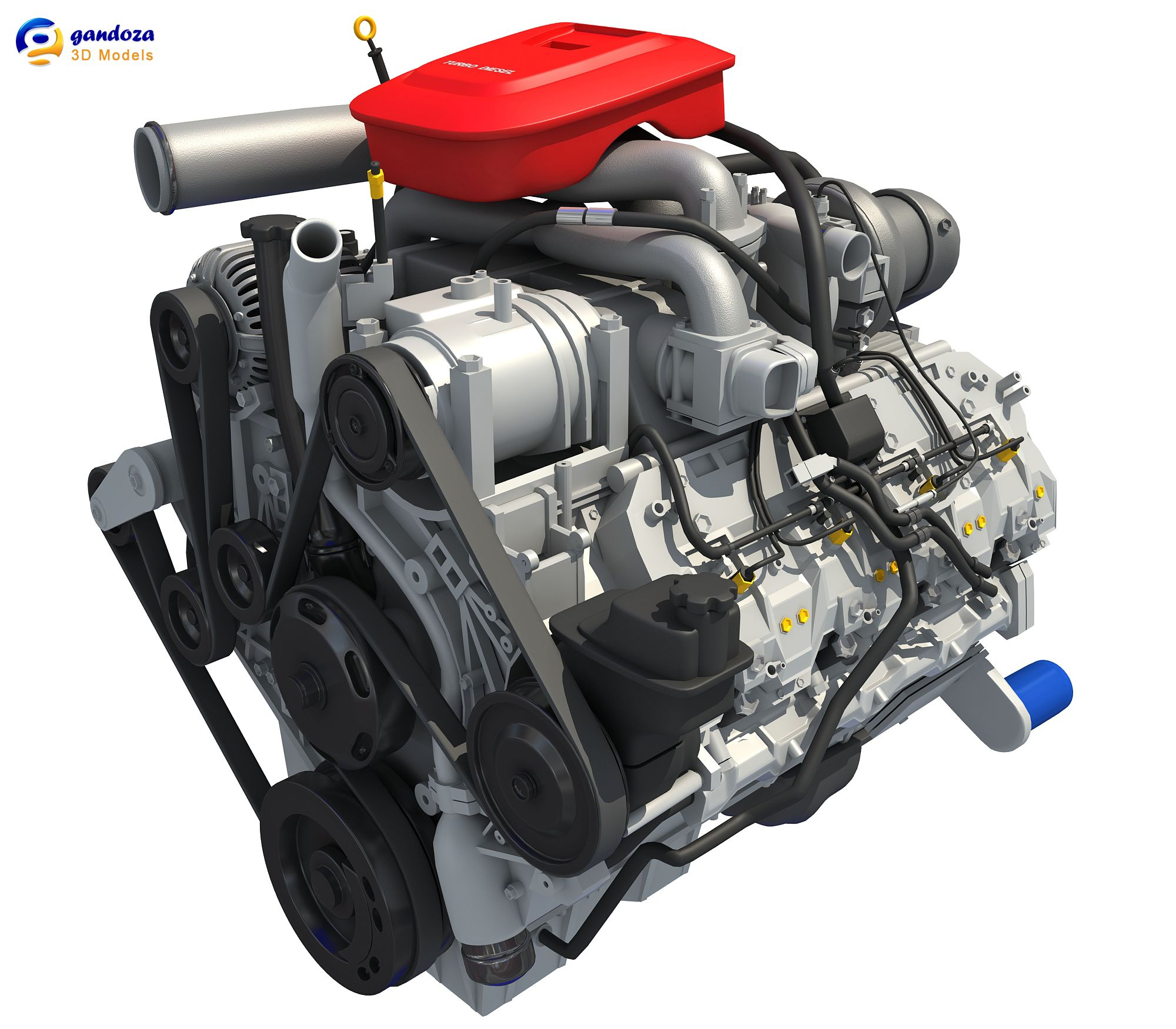 Car Engine 3D Model 3D Engine Pinterest