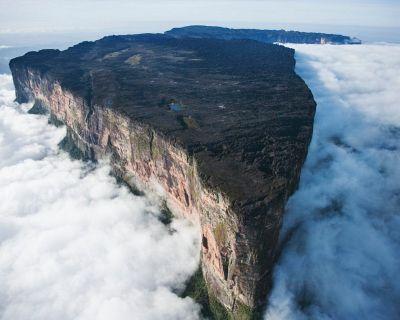 Mount Roraima, South America. The impressive summit spreads through three countries – Venezuela, Brazil and Guyana