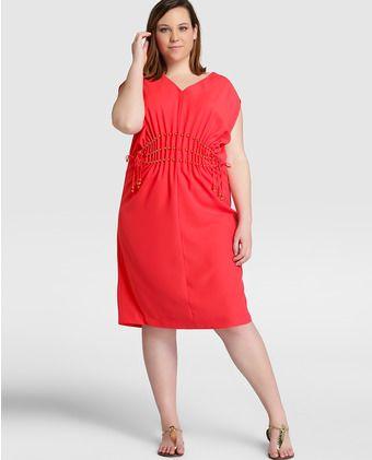 989df1d3a91e Vestido corto de mujer talla grande Couchel en color rojo | Estilos ...