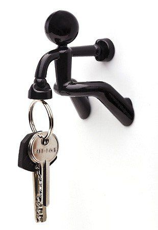 Amazon Com Key Pete Strong Magnetic Key Holder Hook Rack Magnet Black Home Kitchen Magnetic Key Holder Key Holder Key Hooks