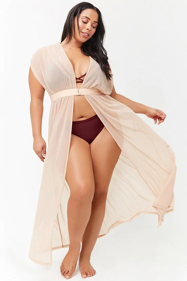3764851c6c6c0 Product Name Plus Size Sheer Mesh Swim Cover-Up